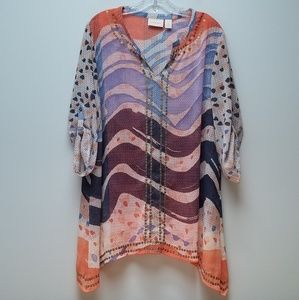 CHICOS | TUNIC TOP, SIZE 2